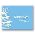 Value Birthday Card - Blue Cake