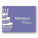 Value Birthday Card - Purple Cake