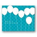 Value Birthday Card - Blue Balloons