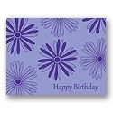 Value Birthday Card - Light Purple Floral