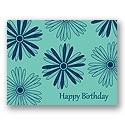 Value Birthday Card - Aqua Floral