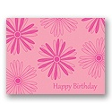 Value Birthday Card - Light Pink Floral