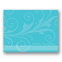 Value Birthday Card - Aqua Formal