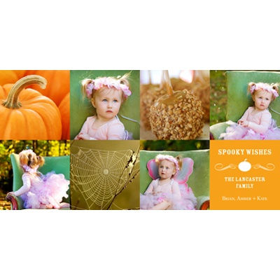 Vintage Halloween Collage Halloween Photo Card
