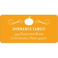 Vintage Pumpkin Halloween Address Label