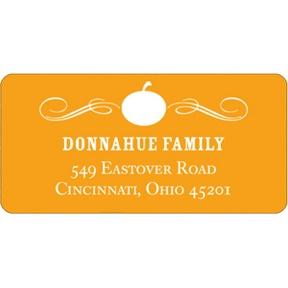 Vintage Pumpkin -- Halloween Address Label