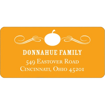 Vintage Pumpkin -- Halloween Address Label