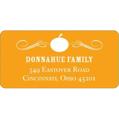 Vintage Pumpkin Halloween Address Label