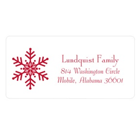 One-of-a-Kind Snowflake -- Christmas Address Labels