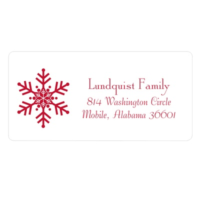 One-of-a-Kind Snowflake Christmas Address Labels