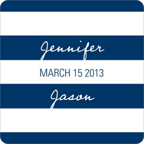 Symmetry and Stripes -- Wedding Favor Stickers