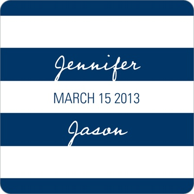 Symmetry and Stripes Wedding Favor Stickers