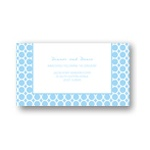 Circular Symmetry -- Custom Wedding Reception Cards