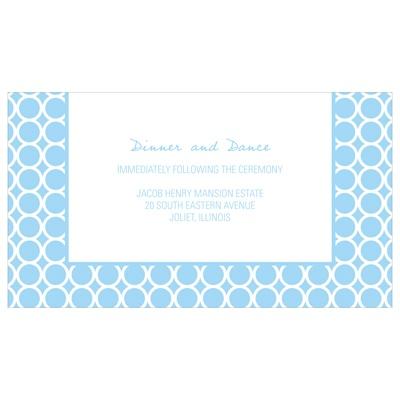 Circular Symmetry Custom Wedding Reception Cards