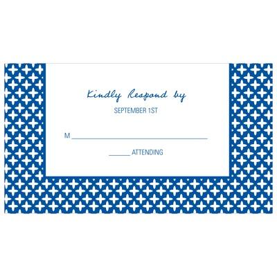 Custom Symmetry Wedding Response Cards