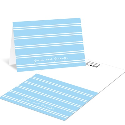 Dual Stripes -- Custom Wedding Thank You Cards