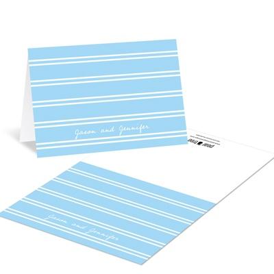 Dual Stripes Custom Wedding Thank You Cards