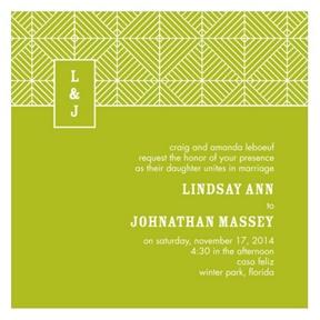Mesmerizing Monogram -- Stylish Wedding Invitations