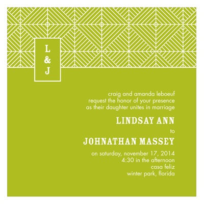 Mesmerizing Monogram -- Stylish Wedding Invitations