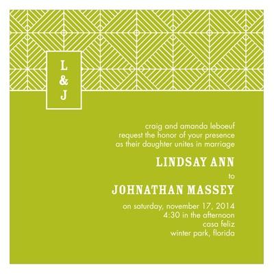 Mesmerizing Monogram Stylish Wedding Invitations
