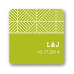 Mesmerizing Monogram -- Wedding Favor Stickers