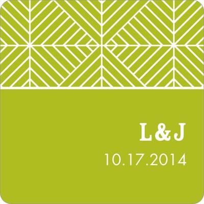 Mesmerizing Monogram Wedding Favor Stickers