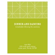 Mesmerizing Pattern Stylish Reception Cards