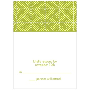 Mesmerizing Pattern -- Wedding Invitation Response Cards