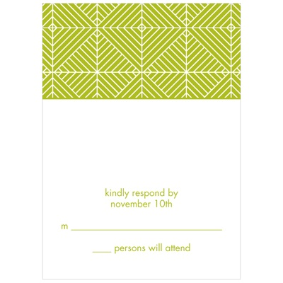 Mesmerizing Pattern Wedding Invitation Response Cards