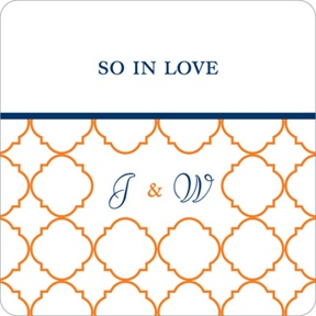 Classy Monogram -- Wedding Favor Stickers