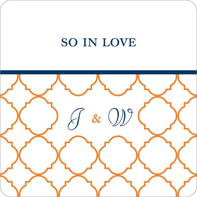 Classy Monogram Wedding Favor Stickers