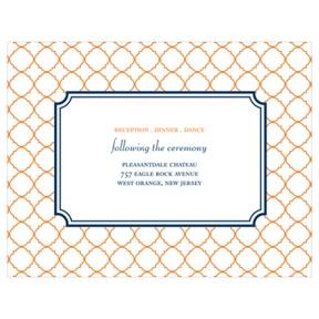 Classic Precision -- Wedding Invitation Reception Cards
