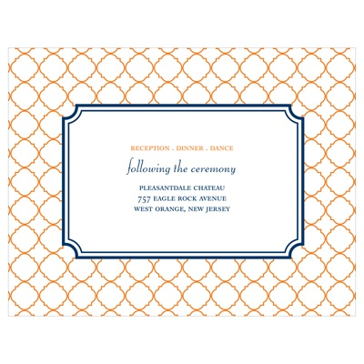 Classic Precision -- Wedding Invitation Reception Cards