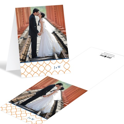 Classy Precision -- Photo Wedding Thank You Cards