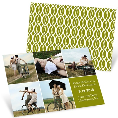 Blocked Collage Save the Date Photo