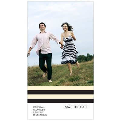 Simply Stripes -- Photo Save the Date