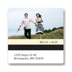 Simple Stripe -- Save the Date Address Label