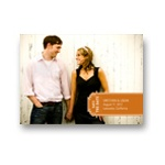 Simple Banner -- Modern Save the Date Photo Card
