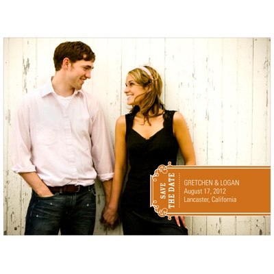 Simple Banner Modern Save the Date Photo Card
