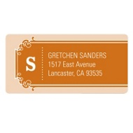 Simple Banner Modern Save the Date Address Label