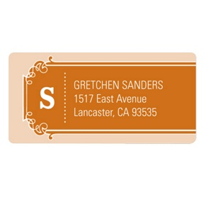 Simple Banner -- Modern Save the Date Address Label