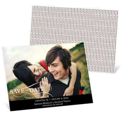 As the Wind Blows Horizontal Photo Save the Date Cards