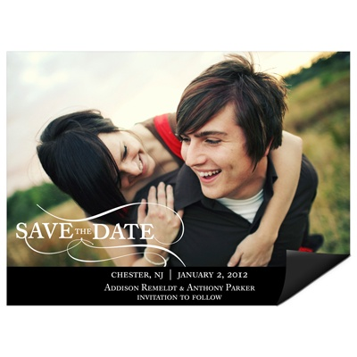 As the Wind Blows Horizontal Photo -- Save the Date Magnets