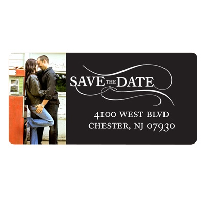As the Wind Blows -- Save the Date Address Label
