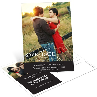 As the Wind Blows Vertical Photo Save the Date Postcards