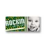 Rockin' Christmas in Green -- Christmas Photo Card