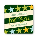 Rockin' Christmas in Green -- Christmas Gift Stickers