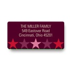 Stars Aligned in Pink -- Christmas Address Label