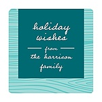 Rustic Panel in Aqua -- Christmas Gift Tag