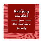 Rustic Panel in Red -- Christmas Gift Stickers